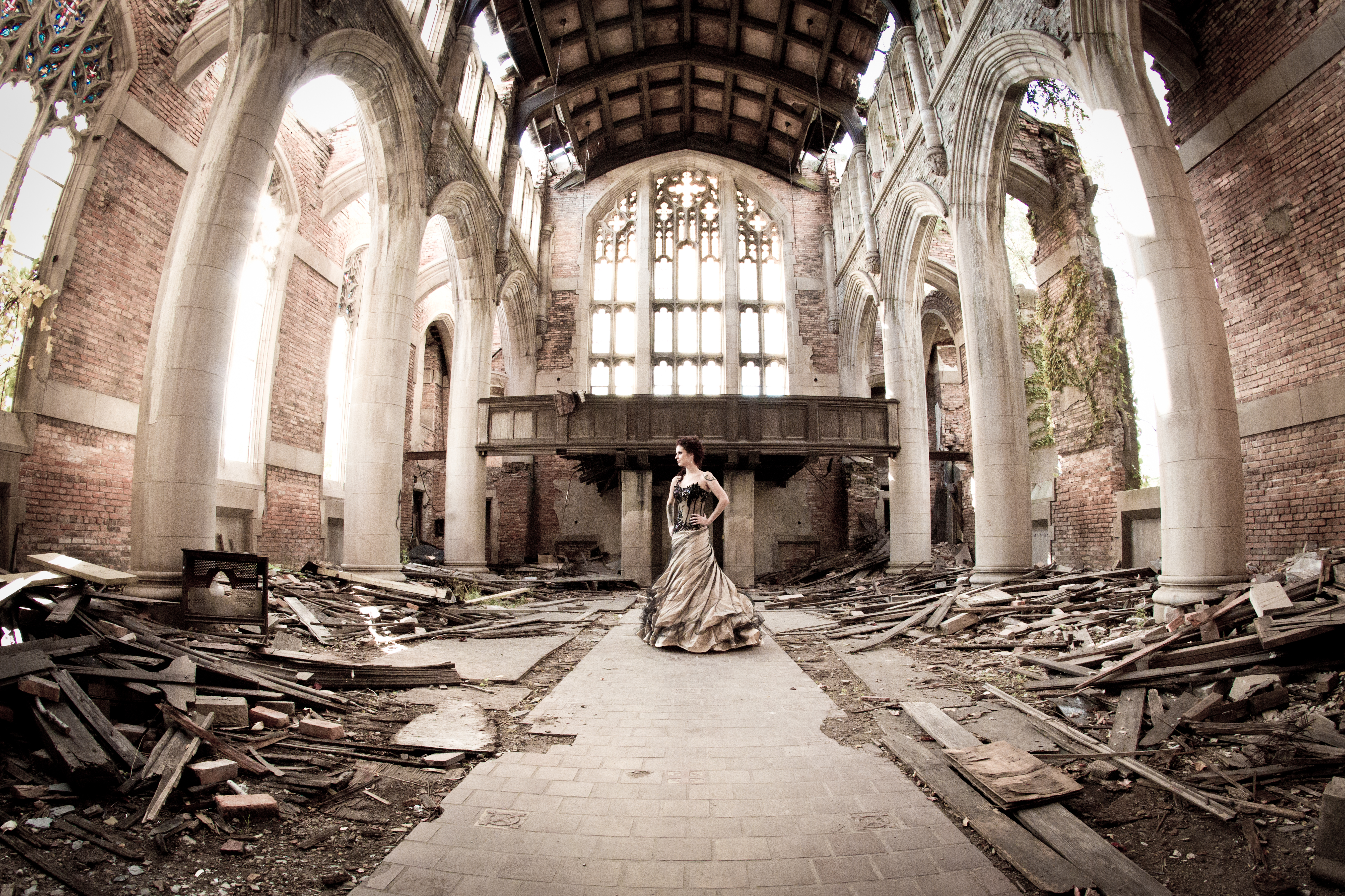 Trash The Dress Photos At An Abandoned Church In Gary